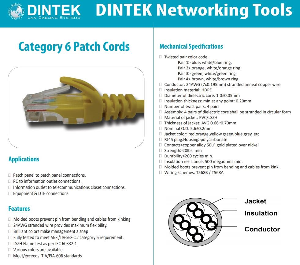 hight resolution of dintek cat6 patch cord cable 1 meter