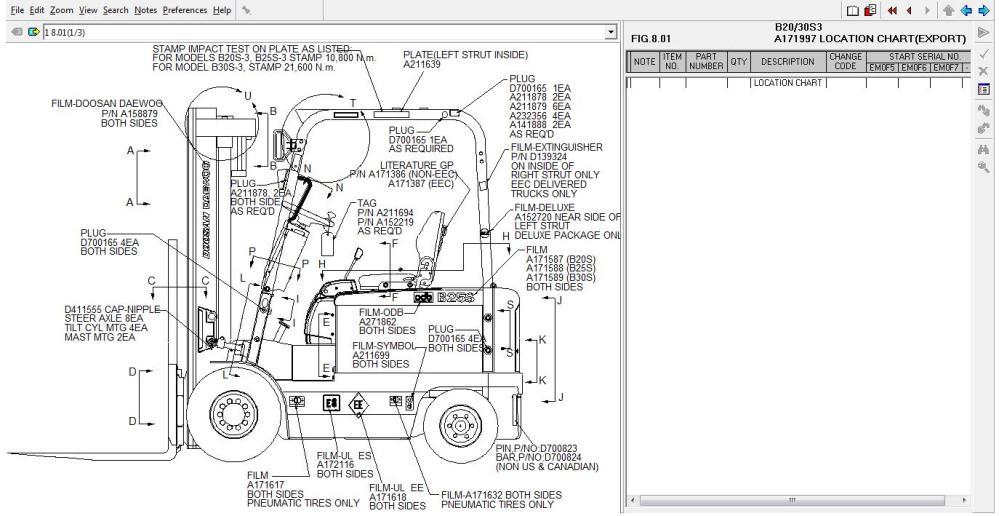 medium resolution of doosan daewoo forklift trucks spare parts catalog