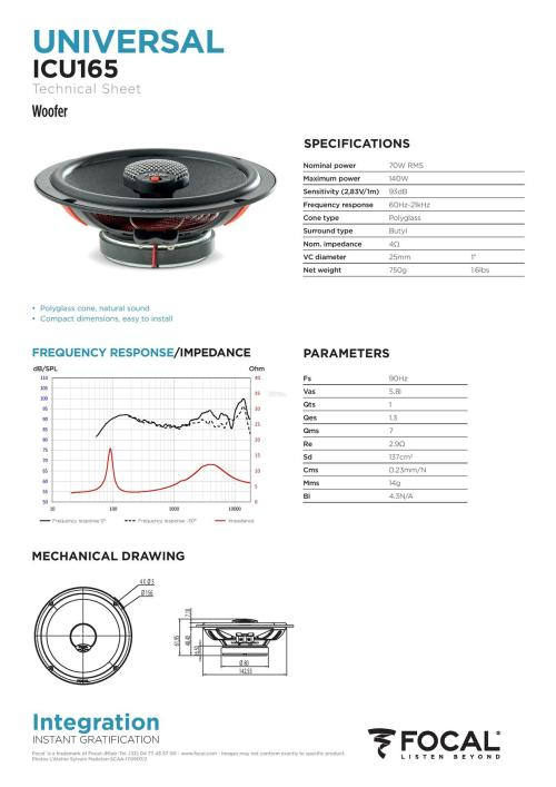 small resolution of focal integration universal icu 165 2 way coaxial car speakers