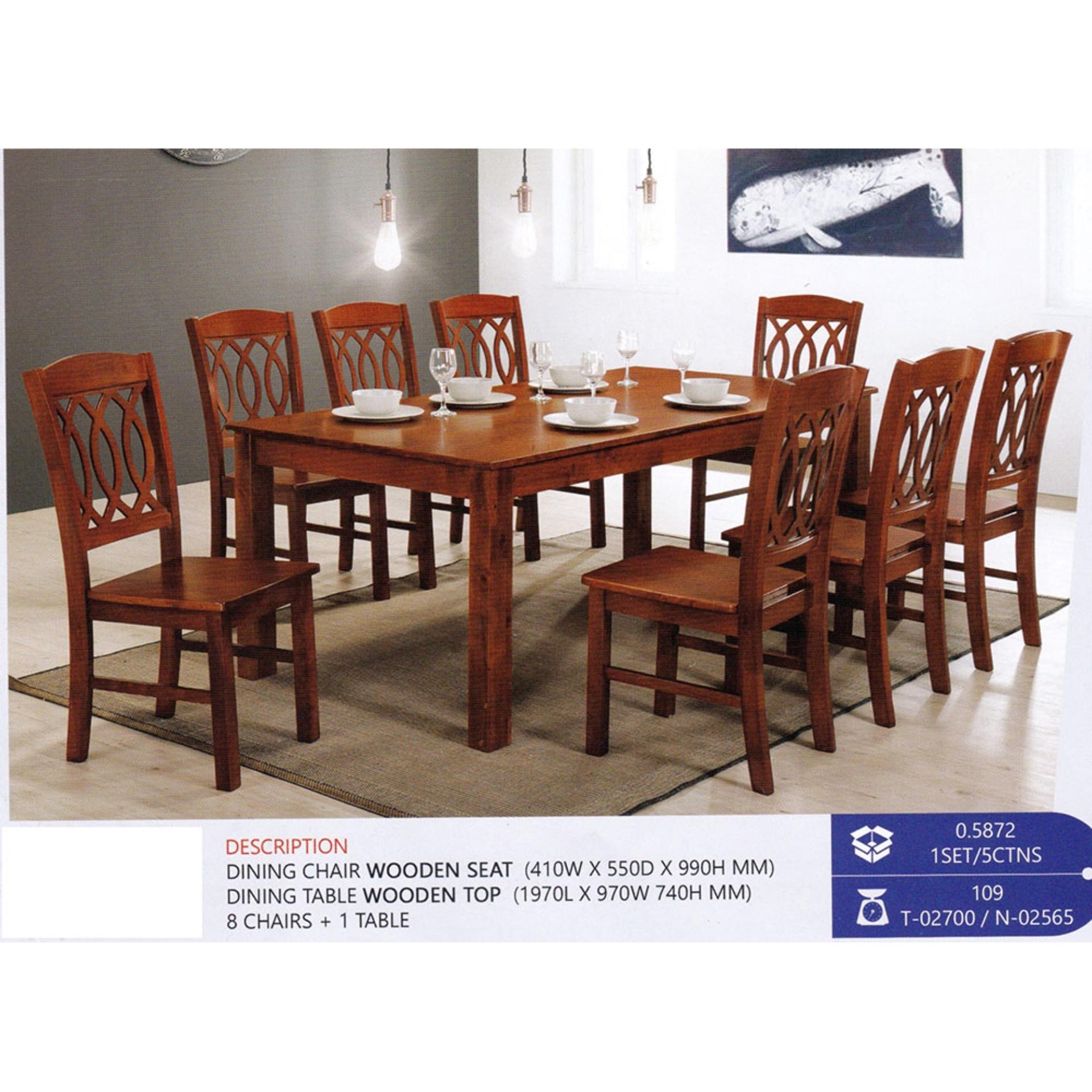 8 Chair Dining Set Fully Solid Wood 1 8 Dining Table Chair Set Pre Order 1 Week