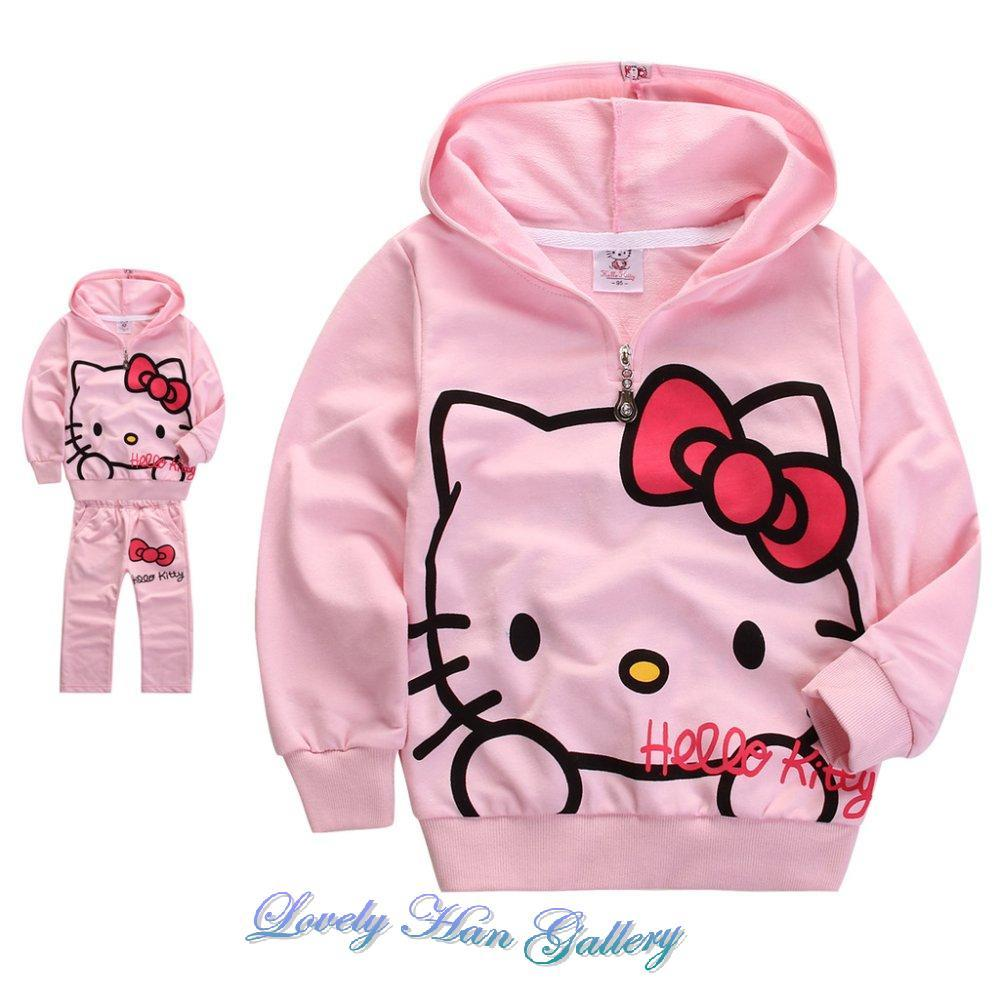 Hello Kitty Kids Girl Pink Hoodie J (end 1/22/2016 10:15 AM)