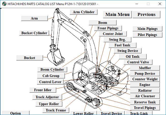 Hitachi EX120 Excavator parts Manual for Christmas