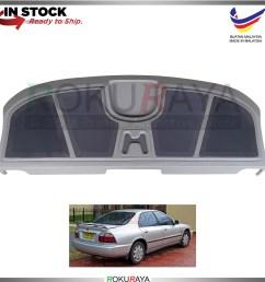 honda accord sv4 1996 1998 custom fit rear top speaker board pvc  [ 1500 x 1500 Pixel ]