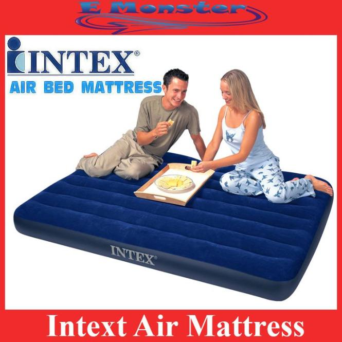 Intex Inflatable Single Double Air Bed Mattress Travel Sleeping Bag
