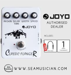 joyo jf 07 classic flanger effect guitar pedal with free patch cable  [ 900 x 900 Pixel ]