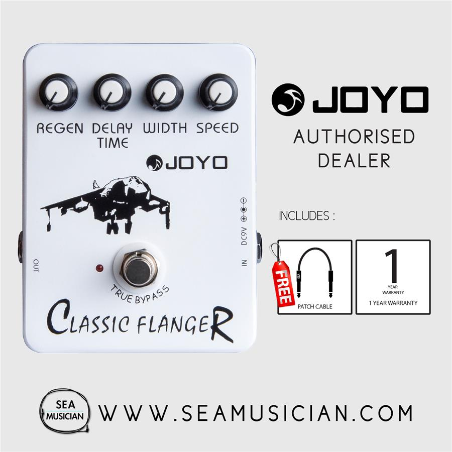medium resolution of joyo jf 07 classic flanger effect guitar pedal with free patch cable