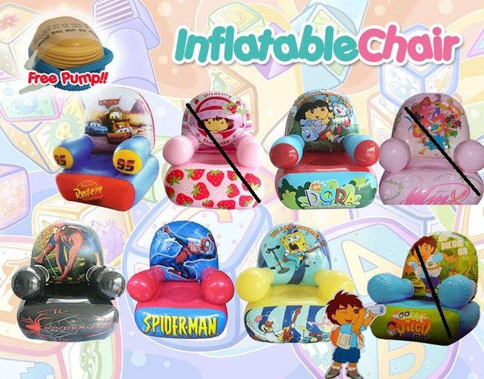 KIDS CARTOON INFLATABLE CHAIR (end 2/6/2016 11:15 PM)