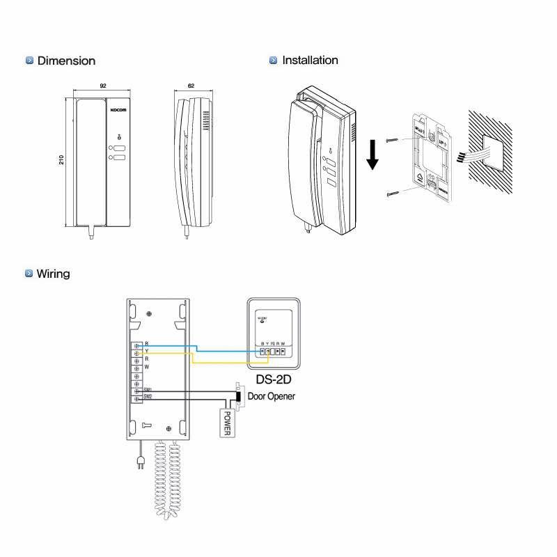 Kocom Korea KDP-601AM 1 to 1 Door Ph (end 1/5/2023 12:00 AM)