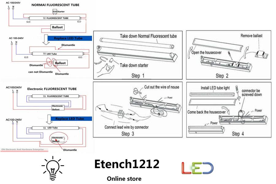 Convert Fluorescent To Led Wiring Diagram : 41 Wiring
