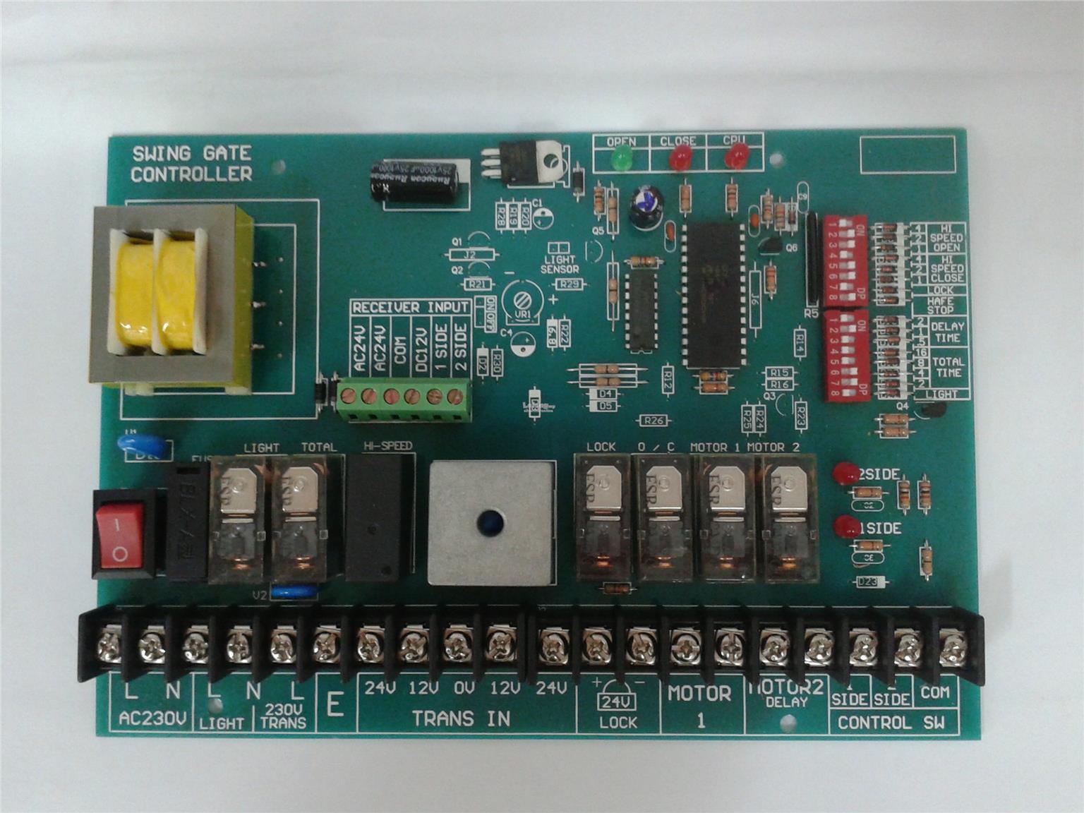 hight resolution of m808 autogate swing control board pcb panel automatic gate auto