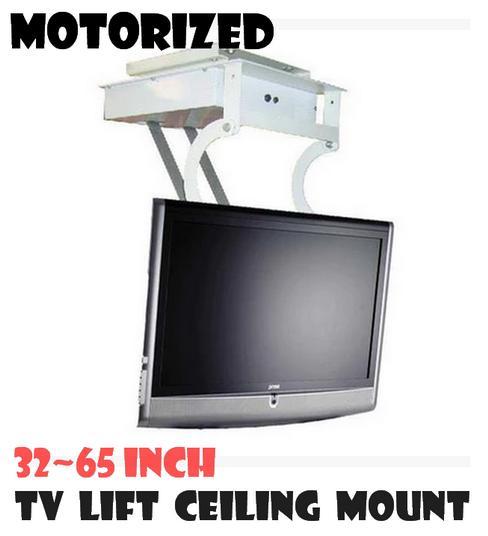 Motorized ceiling flip down tv mount diy for Vivo motorized tv mount