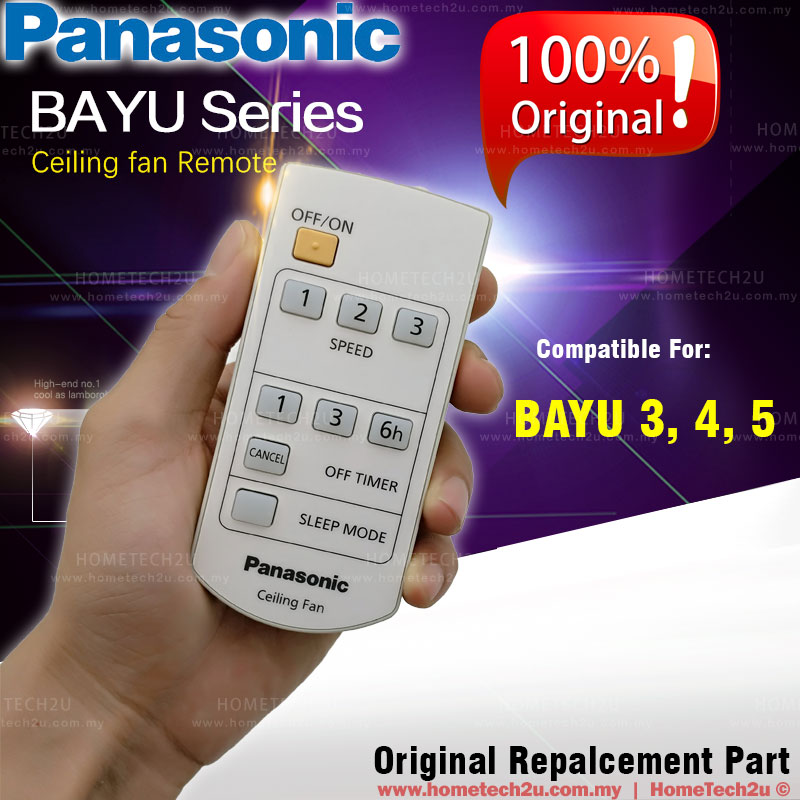 Original Panasonic Bayu 3 4 5 Ceiling Fan Remote Control
