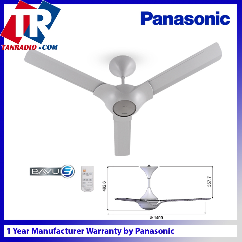 Panasonic Bayu 3 Blade 1400mm 56 Inch F M14c2 Grey Ceiling Fan Not Responding To Remote