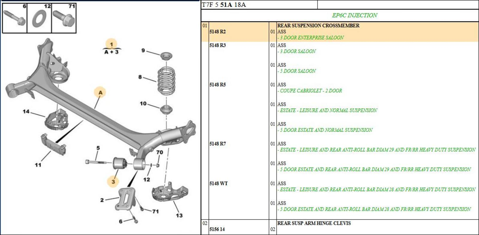 hight resolution of peugeot 308 rear suspension crossmember assembly