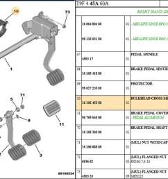 peugeot 308 t9 brake pedal assembly seal [ 1600 x 930 Pixel ]