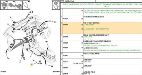 small resolution of peugeot 308 usb socket harness
