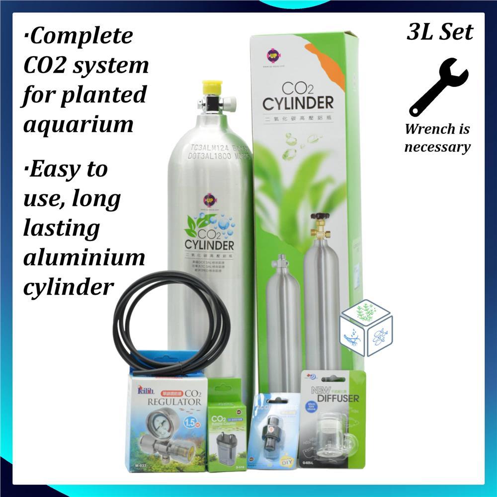 medium resolution of planted aquarium aluminium co2 set 3l