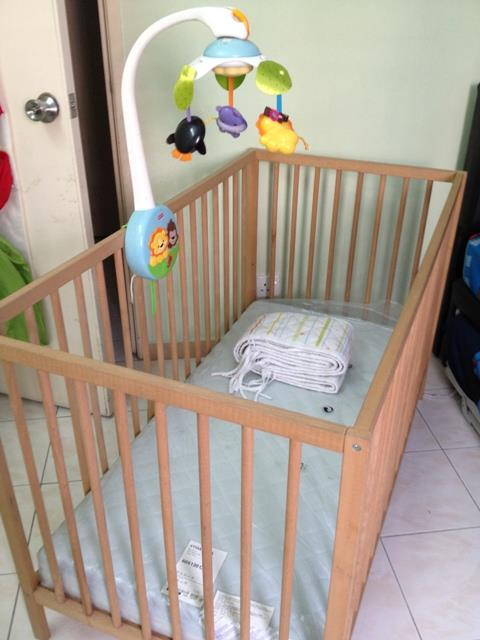 Preloved Ikea Baby Cot