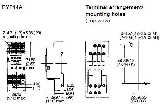 omron my2n relay wiring diagram 2005 ford taurus ignition pyf-14a socket base for my4 (end 1/6/2020 1:15 pm)