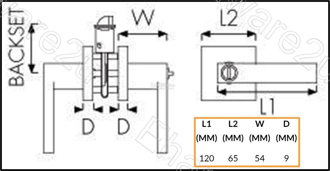 Remax Tubular Lever Door Lock Set (78 (end 9/7/2020 1:08 PM)