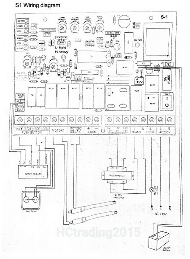 S1 Swing Autogate Controller Board (end 11/7/2019 11:15 PM)