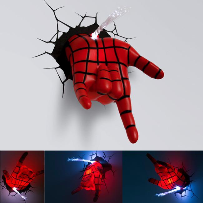 Superhero Spiderman Hand 3D Wall Lamp (end 6/6/2017 9:40 PM)