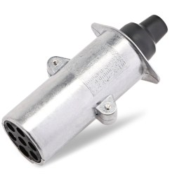 t23414 7 pin 24v n type trailer wiring connector aluminum plug [ 1000 x 1000 Pixel ]