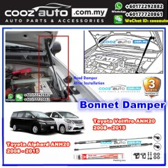 All New Alphard 2021 Footstep Grand Avanza Toyota Vellfire Anh20 2008 End 7 6 12 00 Am 2015 Sustec Front Hood Damper Bonnet Gas