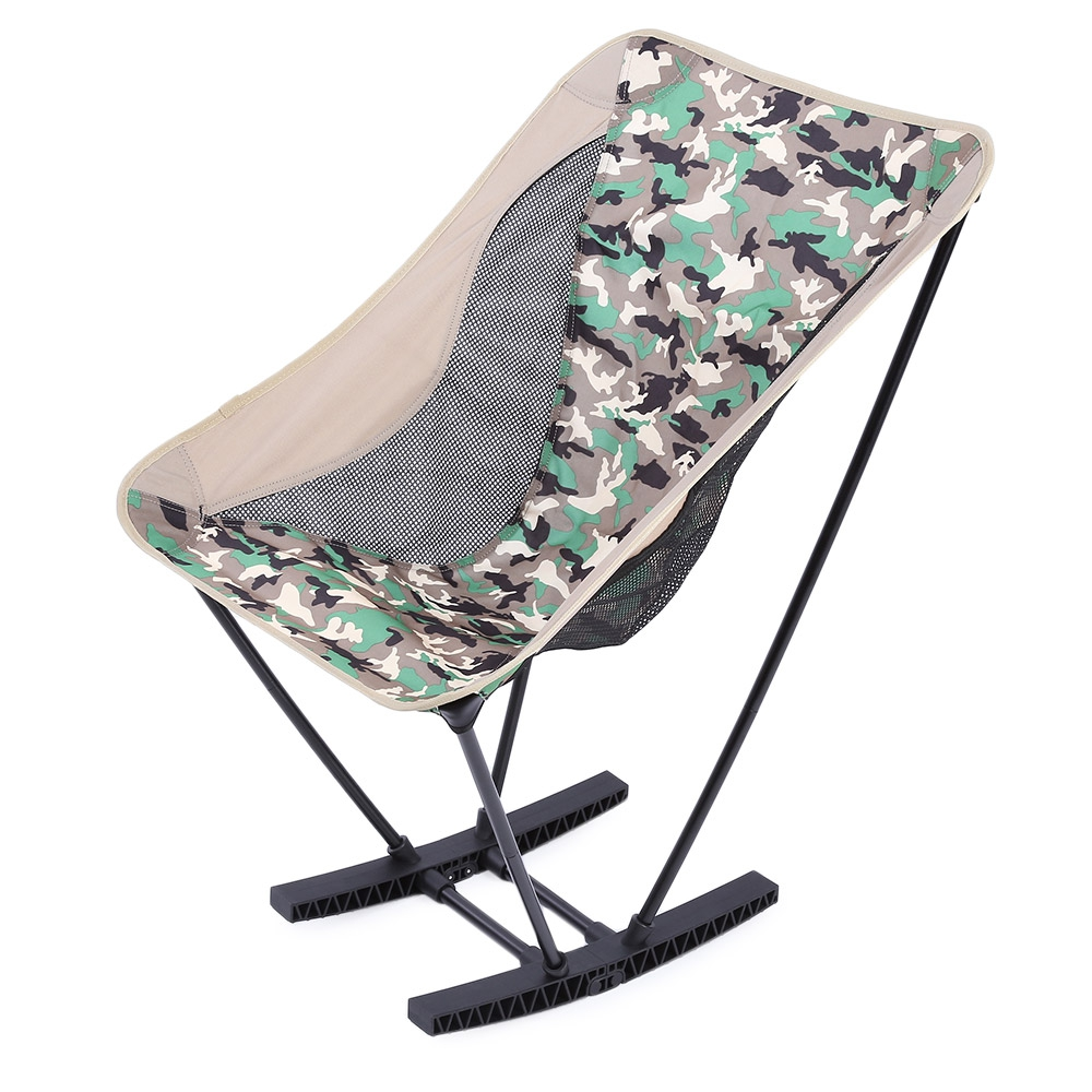 Camping Rocking Chair Ultralight Folding Aluminum Alloy Stool Rocking Chair Outdoor Camping Picnic F