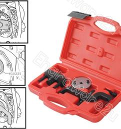 vw t5 water pump removal tool kit 4862  [ 1050 x 776 Pixel ]