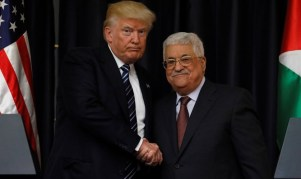 Image result for abbas with trump