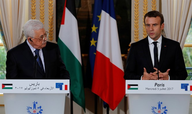 Abbas and Macron