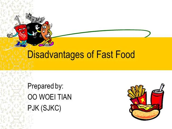 Advantages And Disadvantages Of Fast Food Essay - Resume