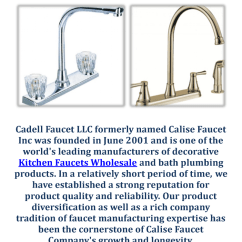 Wholesale Kitchen Faucets Cabinet Inserts Ideas Cadell Faucet Llc In Fresno Ca Authorstream Title