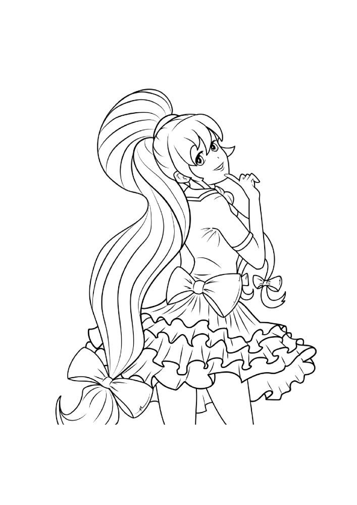 Hot Anime Girls Coloring Pages For Adults Printable Coloring Boo
