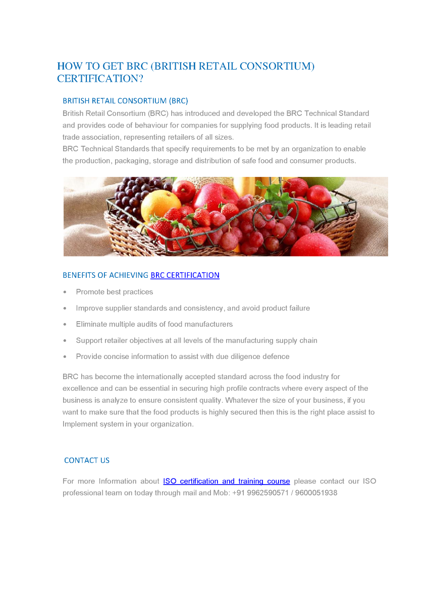 Food Manufacturing Supplier