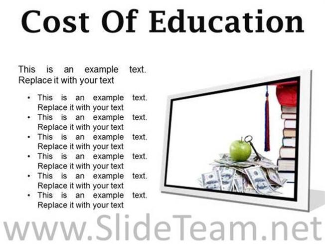 COST OF EDUCATION MONEY POWERPOINT PRESENTATION SLIDES F ...