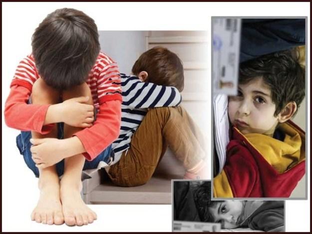 نازک طبیعت کے مالک ہونے کے سبب بچے نفسیاتی امراض کا شکار جلدی ہوتے ہیں۔ فوٹو: فائل