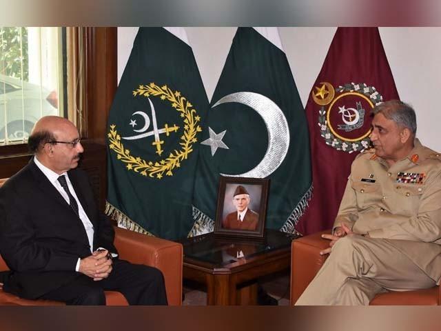 آرمی چیف کی صدر آزاد کشمیر سے ملاقات، مقبوضہ کشمیر کی صورتحال پر تبادلہ خیال