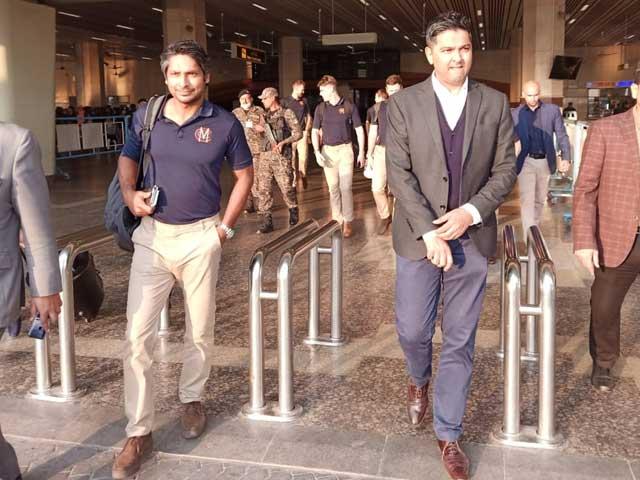 ایم سی سی کرکٹ ٹیم کمارا سنگاکارا کی قیادت میں لاہور پہنچ گئی