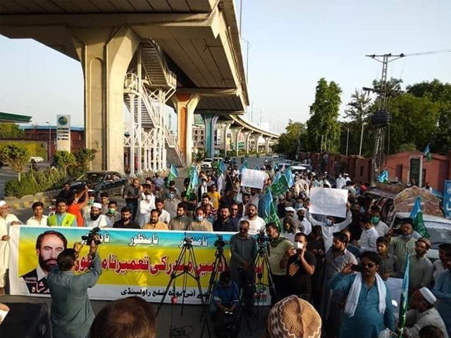 اسلام آباد میں مندر کی تعمیر کے خلاف احتجاج