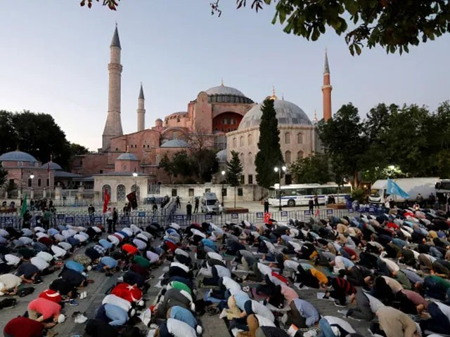 تاریخی عمارت آیا صوفیہ میں 86 سال بعد نماز 24 جولائی کو ادا کی جائے گی، ترک صدر