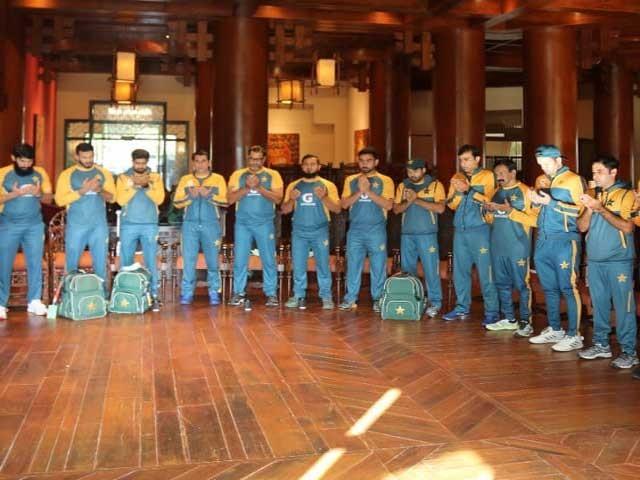 پاکستانی ٹیم کی محفل میلاد میں شرکت؛ ملکی سلامتی اورخوشحالی کے لئے دعا