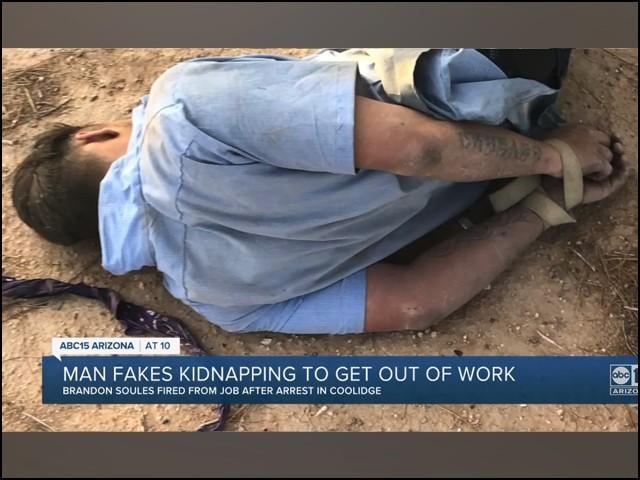 کام سے بچنے کے لیے اپنے اغوا کا ڈراما رچانے والا گرفتار
