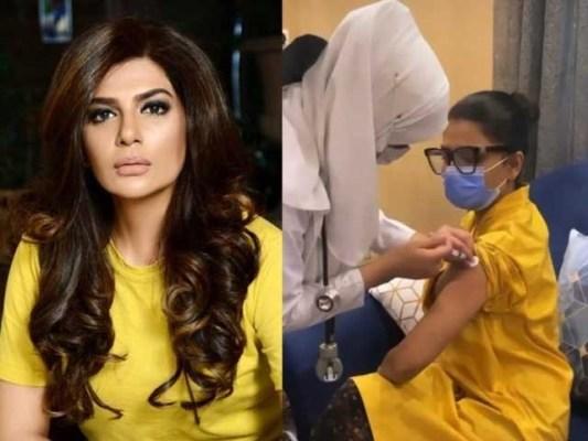عفت عمر نے اپنی غلطی مانتے ہوئے کورونا ویکسین لگوانے پر معافی مانگی ہے فوٹوسوشل میڈیا