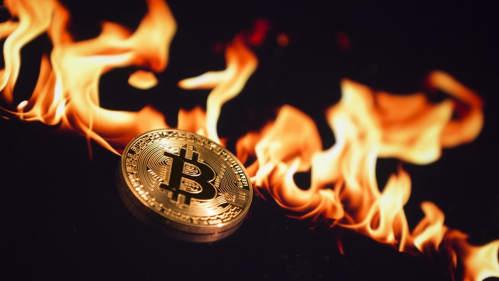 bitcoin ve alevler