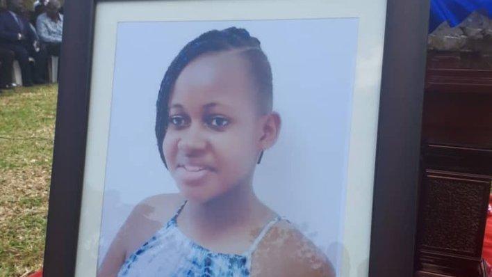 A photo of Nikita Pearl Waligwa at her funeral