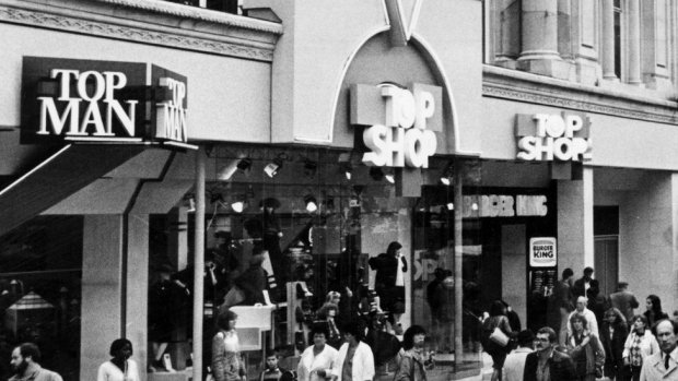 Archive picture of a Topshop/Topman store