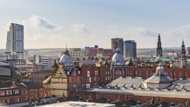 View of Leeds city centre skyline