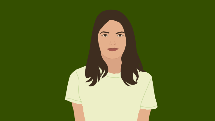 Illustration of Amy, a student